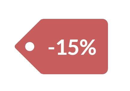 15% de descuento en tus deberes y trabajos